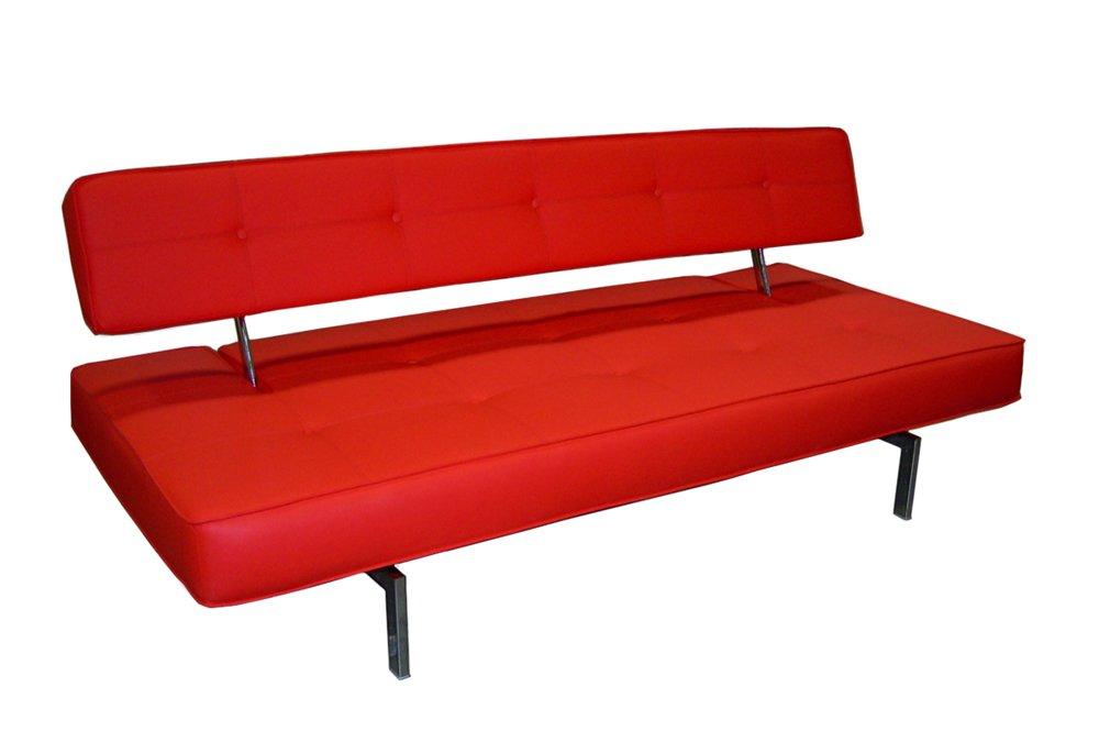 Amazon Com J M Furniture 176012 R Premium Sofa Bed K18 In Red