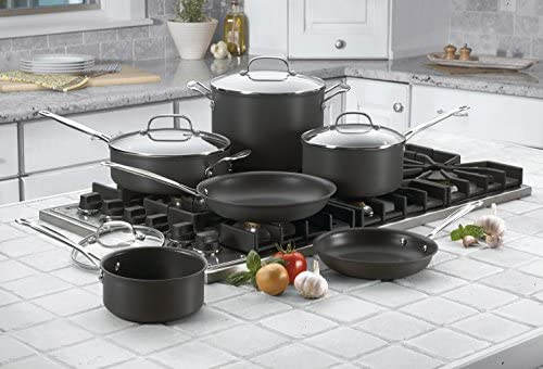 Cuisinart 66-10 Chef s Classic Nonstick Hard-Anodized 10-Piece Cookware Set
