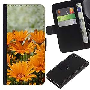 iKiki Tech / Cartera Funda Carcasa - Summer Sun Yellow Orange Flower - Apple iPhone 6