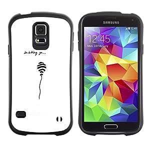 Paccase / Suave TPU GEL Caso Carcasa de Protección Funda para - Balloon Quote Love White Black Minimalist - Samsung Galaxy S5 SM-G900