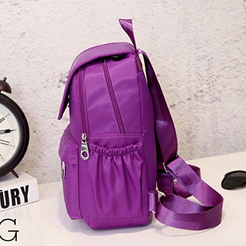 Mujer Impermeable Viaje Escolar Para Estudiante Hope De Escuela 34cm Liviana Blue 25 pink Nylon Y Mochila 12 Estudiante wqYXI