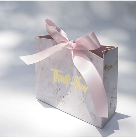 LJPHKK Caja De Dulces Marmoleada Favores De Boda Caja De Regalo Estilo De Mármol con Cinta Dorada Embalaje De Chocolate Decoración Artículos De Fiesta,Si: Amazon.es: Hogar