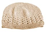 A Girl Company Ivory Crochet Beanie Hat for Baby/Girl