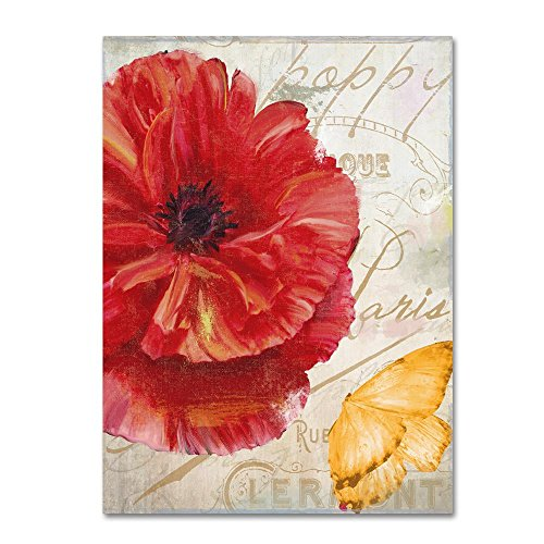 Red Poppy by Color Bakery, 24x32-Inch Canvas Wall Art