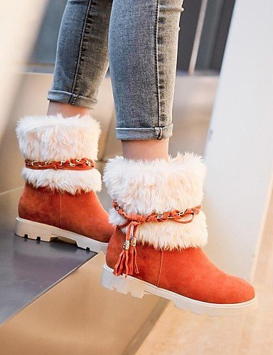 Botas us10 uk8 orange eu42 Punta mujer eu42 Rosa Tacón Botas us10 a 5 5 orange 5 Moda Ante de Redonda Rojo Zapatos la Vestido brown cn43 Robusto eu35 uk3 cn34 us5 Beige Sintético Marrón XZZ qFgPRxX