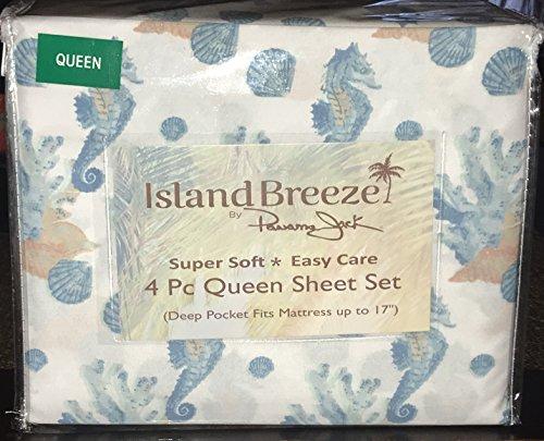 sea sheels & sea horses Sheet Set - QUEEN SIZE - Sheel Sea