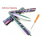 RioRand Handle Practice Multicolored  Knife Trainer Knife Can Self-Accur adjusting (No Offensive Blade)