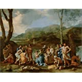 Canvas Prints Of Oil Painting ' Saint John Baptizing In The River Jordan, 1630s By Nicolas Poussin ' , 16 x 20 inch / 41 x 52 cm , Polyster Canvas, Garage, Home Theater And Laundry Room Decoration