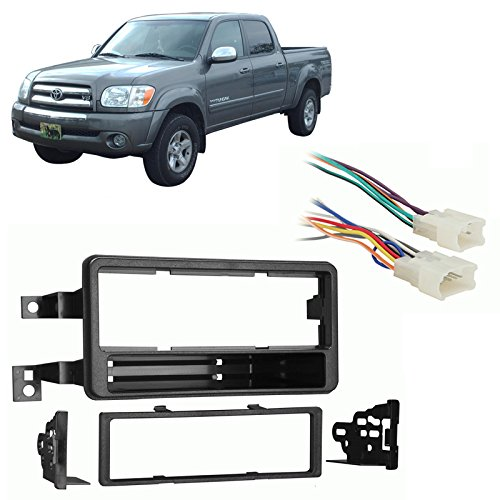 Fits Toyota Tundra Double Cab 2004-2005 Single DIN Harness Radio Dash Kit - Tundra Single