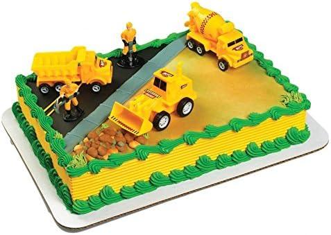 Remarkable Amazon Com A Birthday Place Construction Scene Cake Topper Kit Personalised Birthday Cards Veneteletsinfo