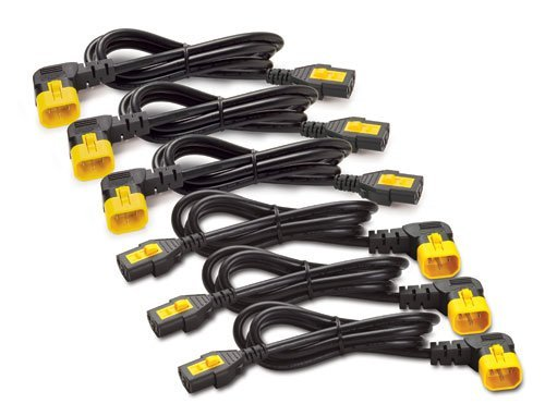 APC AP8706R 1.8m C13 to C14 90 Degree Power Cord Kit (6 EA) (Discontinued by Manufacturer) by APC