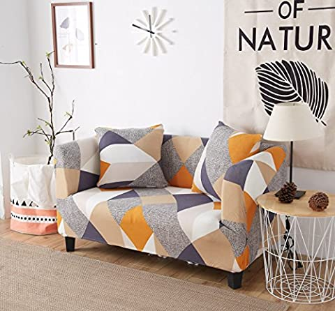 Stretch Anti-Slip Couch Covers, Anti Wrinkle Sofa Slipcovers Furniture Pet Protector Cover 1/2/3/4 Seater Sofa Cover (simple geometric figure) By (Sofa Chaise Cover)