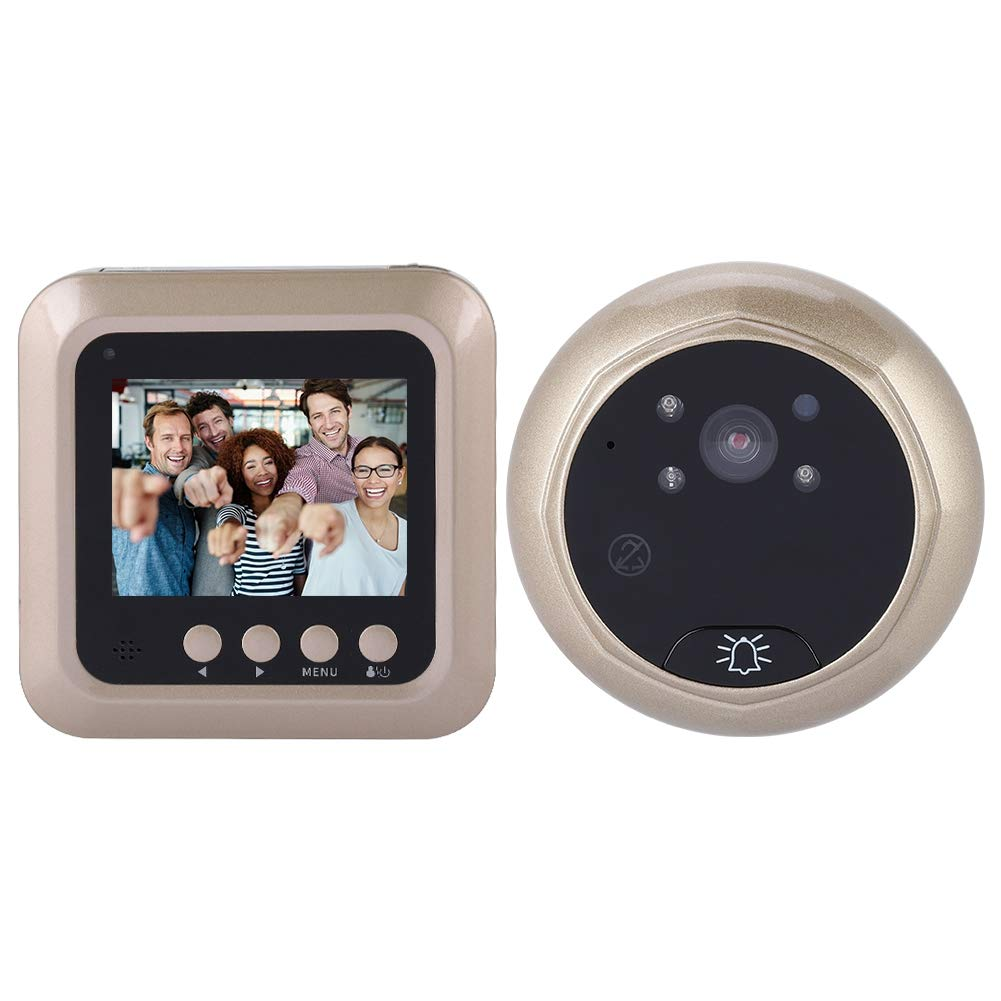 Digital Door Viewer, 2.4 Inch 1080P Peephole Door Camera, Home Security Doorbell with 166 Degree Lens View for Home Security (When You Receive The Order, Please re-Install The Battery Correctly!)