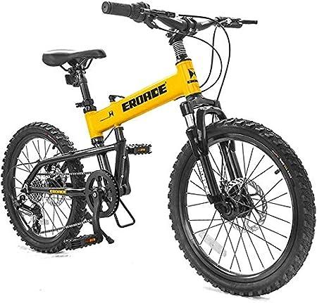 Lxyfc Moda LX x Niños Que Doblan Bicicleta De Montaña Bicicletas Cubierta Disco 6-Velocidad De 20 Pulgadas, Plegable Marco De Aluminio Bicicletas, Amarillo FC De múltiples Fines (Color : Yellow): Amazon.es: Hogar