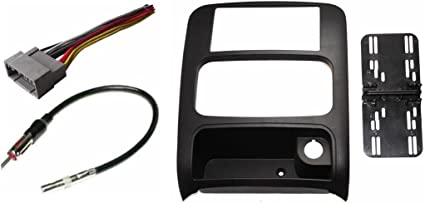 Amazon.com: Aftermarket Double Din Radio Installation Dash Kit Bezel +  Standard Wire Harness & Antenna Adapter Compatible with Jeep Liberty 2003- 2007: Car ElectronicsAmazon.com