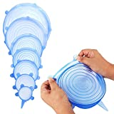 x large fry pan - Silicone Stretch Lids - 7 Pack-Exclusive 9.4