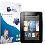 """Kindle Fire HD Screen Protector, Tech Armor High Definition HD-Clear Amazon Kindle Fire HD 7"""" (2013) Screen Protector [3-Pack]"""