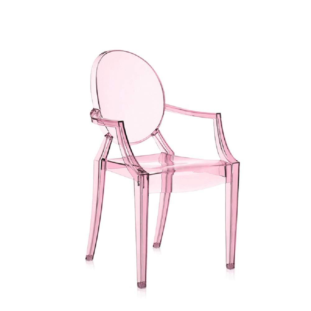 Silla infantil de color rosa con diseño de Louis Ghost.