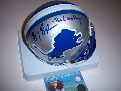 Barry Sanders Autographed Mini Helmet - the Lion King hof Schwartz coa - Autographed NFL Mini Helmets