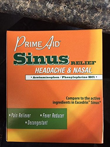 Prime Aid Sinus Relief - Active Ingredie - Excedrin Sinus Headache Shopping Results
