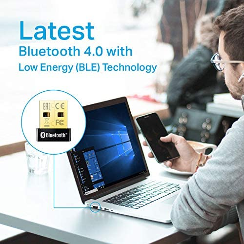 TP-Link USB Bluetooth Adapter for PC(UB400), 4.0 Bluetooth Dongle Receiver Support Windows 10/8.1/8/7/XP for Desktop, Laptop, Mouse, Keyboard, Printers, Headsets, Speakers, PS4/ Xbox Controllers