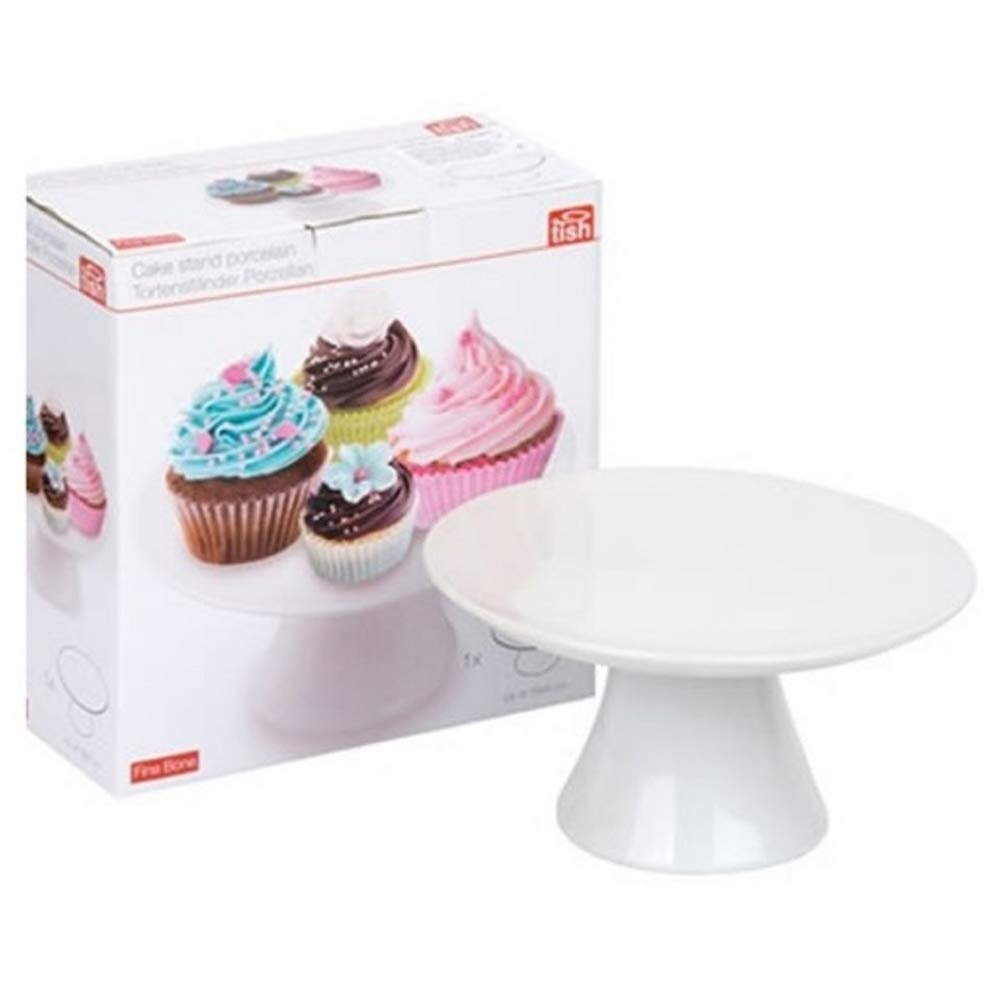 Bakaji Etagere f/ür Kuchen Torten aus Keramik wei/ß 18/x 9/cm Stand-Cupcake Kuchen Etagere B/äckerei Tish