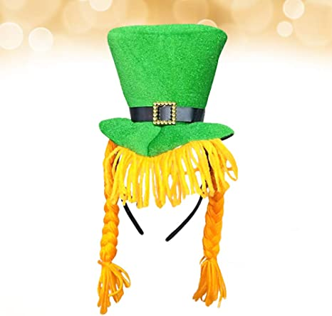 Amosfun Sombrero de Fiesta del Día de San Patricio Green ...