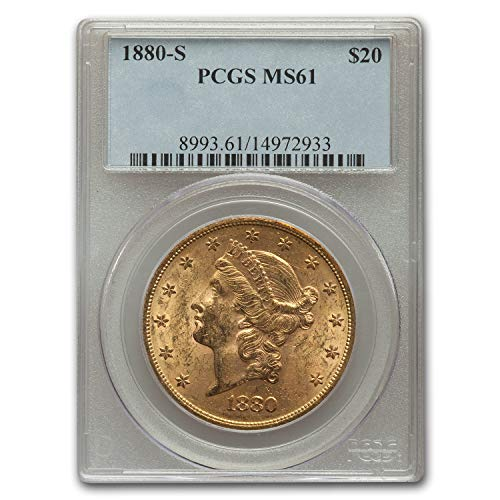 1880 S $20 Liberty Gold Double Eagle MS-61 PCGS G$20 MS-61 PCGS