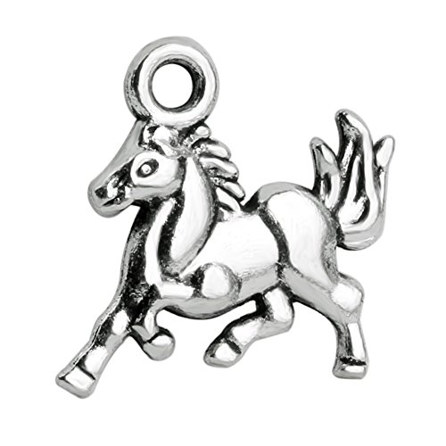 20 Pieces Brave Horse Mustang Protection Powers Charms Findings Jewelry Pendant Necklace Making ()