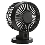 quiet mini desk fan - Mini USB Personal Table Desk fan,Portable Small Quiet Fan 2 Speed Modes Dual Blades Simulate natural wind for Room Office Desktop by I-pure items