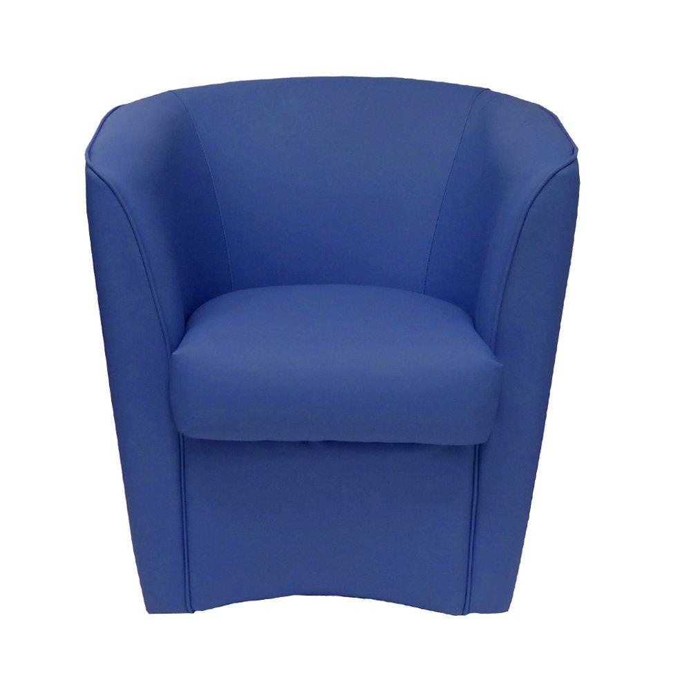 Poltrona blu chiaro in ecopelle per cucina sala da pranzo ufficio camera cameretta Poltrone design Azzurra blu chiaro
