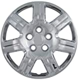 Set of 4 Chrome 16 Inch Replacement Honda Civic Hubcaps w/ Bolt On Retention System - Aftermarket: IWC452/16C