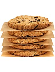 Zenlogy Parchment Paper Square Sheets (200 Pcs) – 4x4 inches - Unbleached and Non Toxic - For Separating Hamburgers, Cookies, And Other Food Items – Perfect for Storing and Freezing.