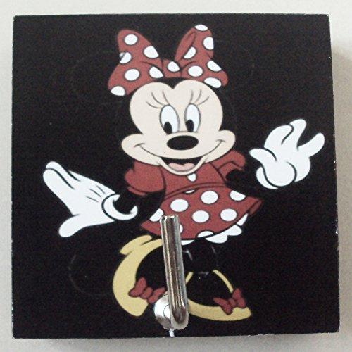 Triple Monogram Three Letter (Agility Bathroom Wall Hanger Hat Bag Key Adhesive Wood Hook Vintage Black Minnie Mouse's Photo)