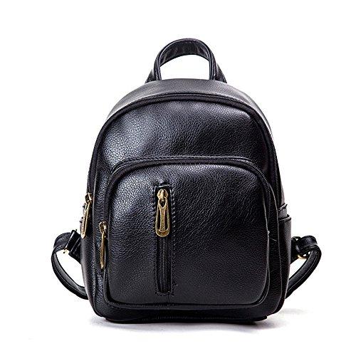 Bag Meaeo Square Black Brown Bag Minimalist Backpack Elegant Backpack Small Small p5qwFa