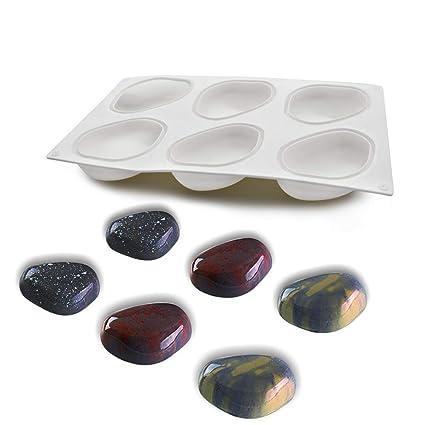 Molde de pastel de silicona, moldes silicona 3d para postres pudín, 6 cavidades Forma