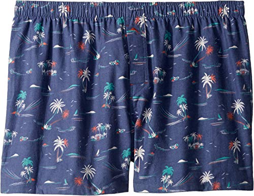 Tommy Bahama Men's Printed Flannel Boxer Shorts Seascape Small (Printed Flannel Boxers)