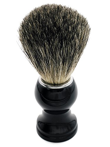 CYH Badger Shaving brush, 100% Top Quality Silvertip Badger Hair with Imported Resin Handle Luxury Facial Care Tools for Safety Razor, Double Edge Razor, Shaving Razor