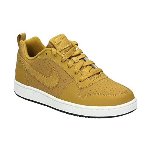 fd7d4bf0f1af7 Nike Boys Court Borough Low (gs) Fitness Shoes, Multicolour Wheat/Summit  White