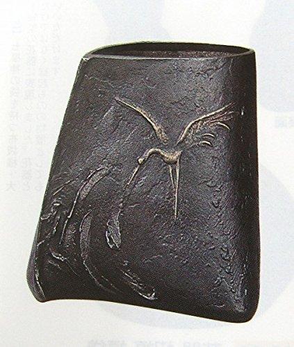 大森孝志『花器舞』青銅製 ブロンズ 鶴 花瓶【オブジェ 置物】【R1749】 B0745WZW59