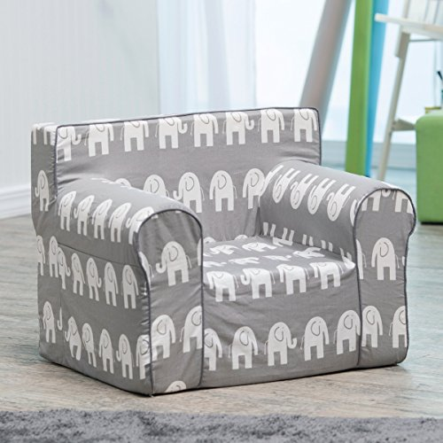 Here and There Kids Chair - Gray Elephant . by Kids Chair
