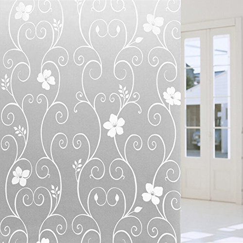 JD Million shop 45*100cm DIY Glass Film Frosted Opaque Glass Window Film Glass Stickers Mural Art Poster Home Decor (Cool Halloween Poster Ideas)