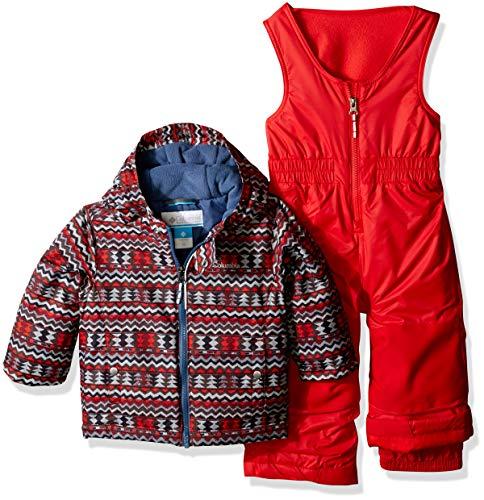 Snowsuit Set - Columbia Kids & Baby Toddler Kids Frosty Slope Set, Red Element Zigzag Print, 4T