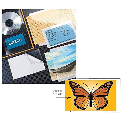 Lineco Peel-Stick Clear Pockets 5x7 (10)