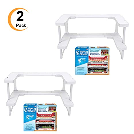 Edenware Spice Rack And Stackable Shelf Inspiration Amazon 60 Pack Spicy Shelf Spice Rack Stackable Organizer