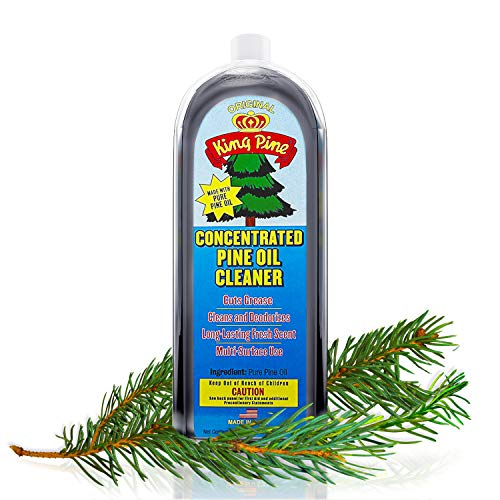 King Pine - Concentrated Pine Oil Cleaner, Multi-Surface Cleaner, Heavy Duty Cleaner, Floor Cleaner - black 32oz Value Size
