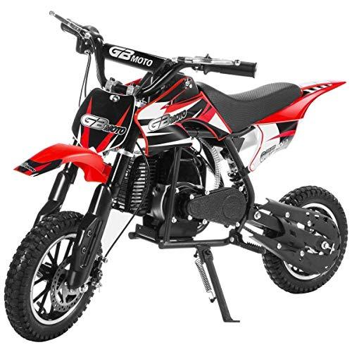 3. Superrio 49CC 2-Stroke Gas Power Mini Dirt Bike Dirt Off Road Motorcycle