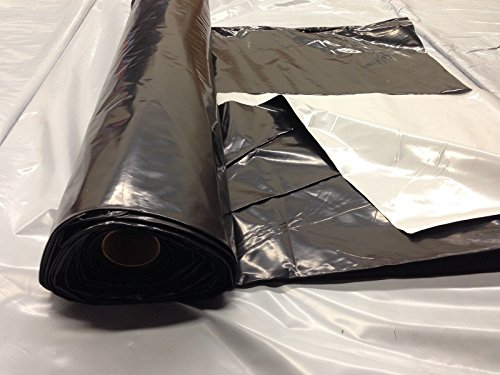 Light deprevation greenhouse cover 100% blackout film 65' x 100' 6 mil