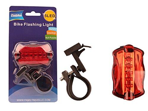5 LED Bike Safety Light, 2.6''x1.5''x1'' , Case of 96