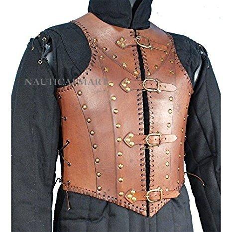 - NAUTICALMART Armor Soldiers Leather Body Armour